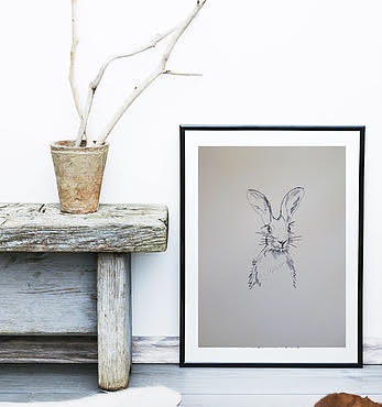 Hare A3 Print