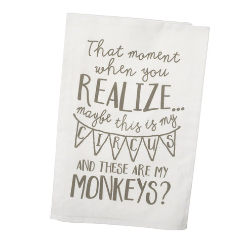 Monkeys Dish Towel