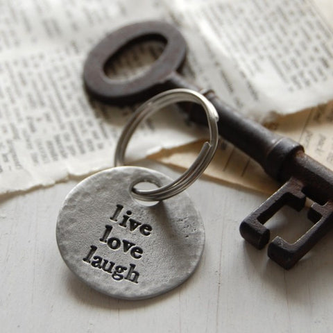 Live, Love, Laugh Pewter Keyring