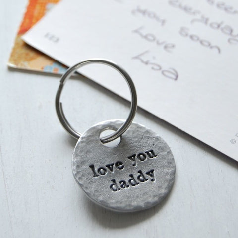 Love You Daddy Keyring