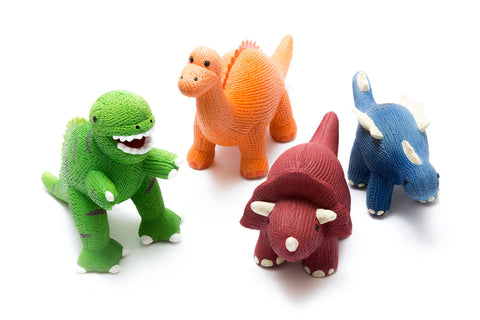 Teether Rubber Dinosaurs