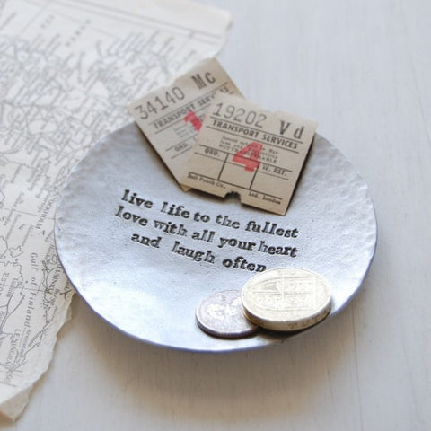 Live, Love Laugh Keepsake Dish