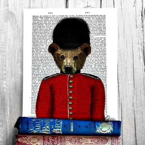 Guardsman Bear Antiquarian Art Print