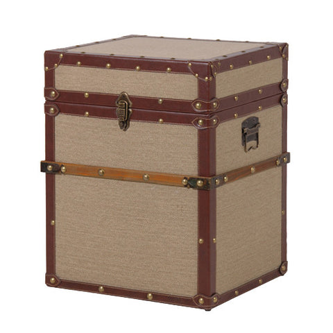 Beige Side Table Trunk