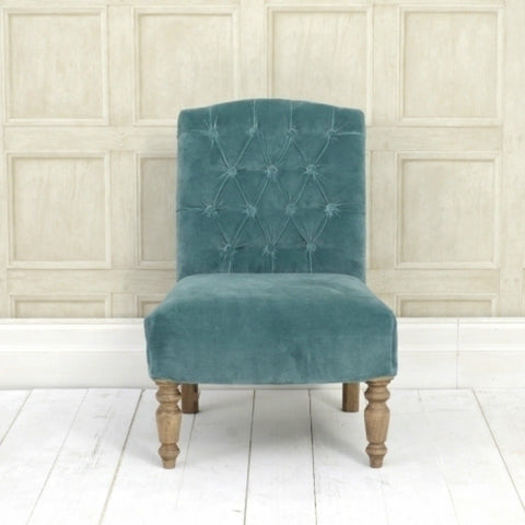 Teal Velvet Chair