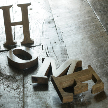 HOME Mango Wood Letters