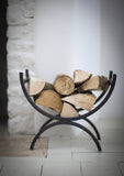 Wrought Iron Log Basket