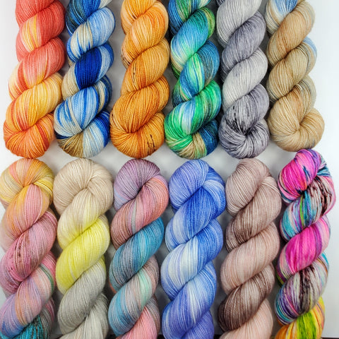 Full Set 50g Skeins - Into Space - Pre-Order (5 bases available, Sock, Sport, DK)