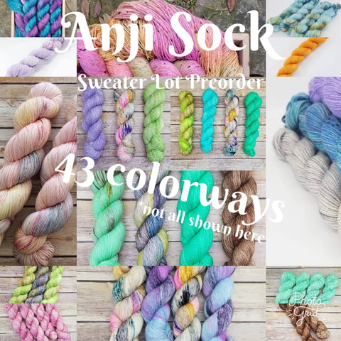 Anji Sock - Sweater Lots Preorder - Any Colorway!