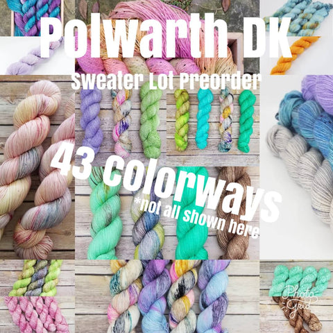 Polwarth DK - Sweater Lots Preorder - Any Colorway!