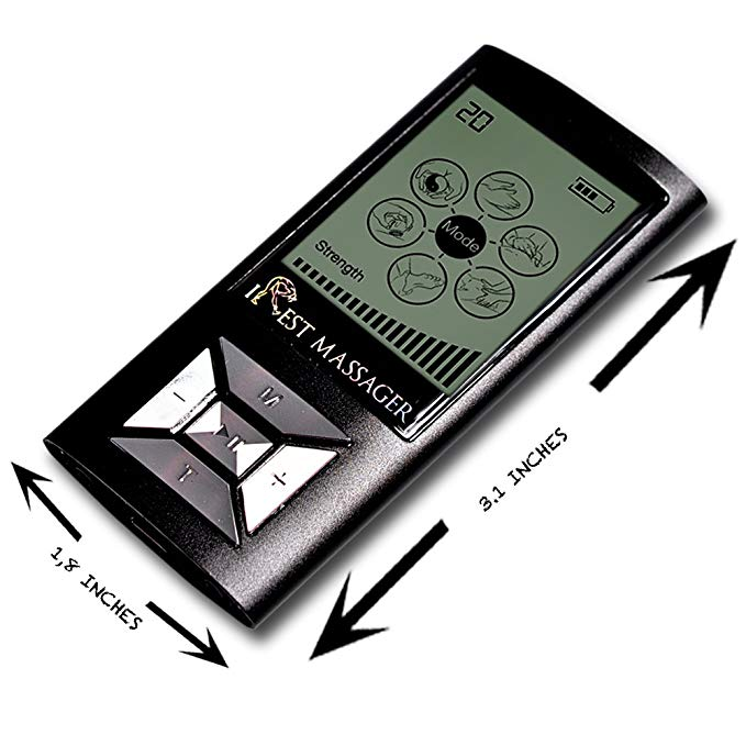 iRest SE Massager Tens Unit FDA 510k Cleared (BLACK)