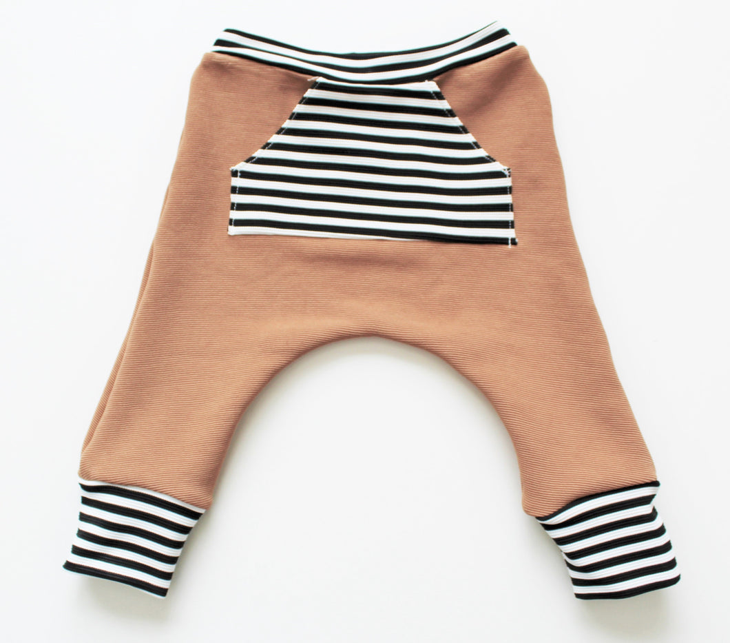 tan + stripe jogger