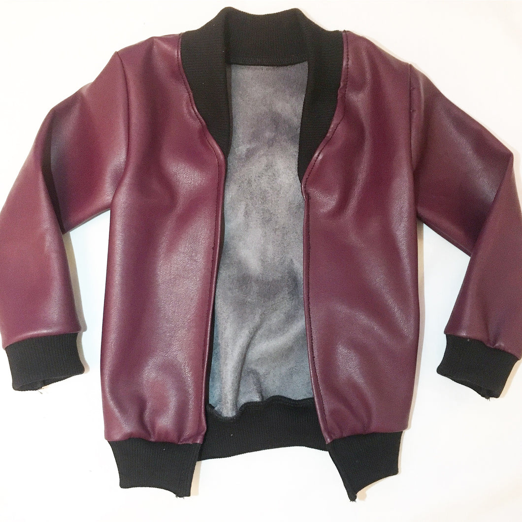 leather cardi•berry