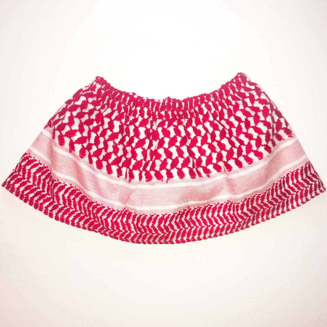 red keffiyeh skirt