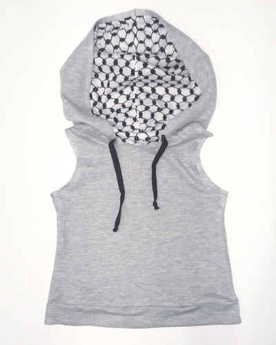 keffiyeh hooded vest