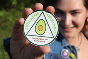 Avocados Anonymous Sticker