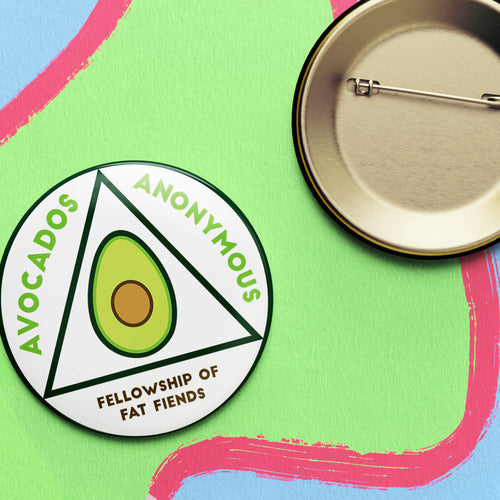 Avocados Anonymous Button