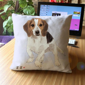 Cute Dogs Cushion Cover Square