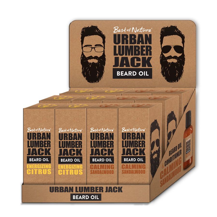 Urban Lumberjack Beard Oil Display