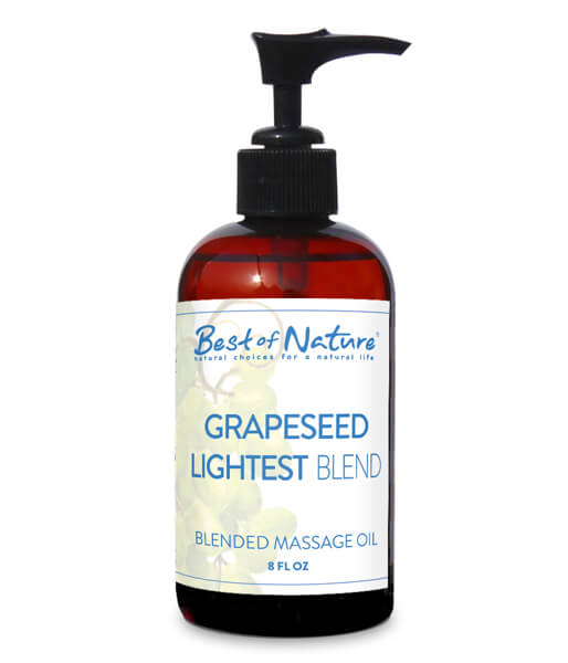 Best Of Nature Grapreseed Lightest Blend Massage Oil 8 Ounce Pump Bottle