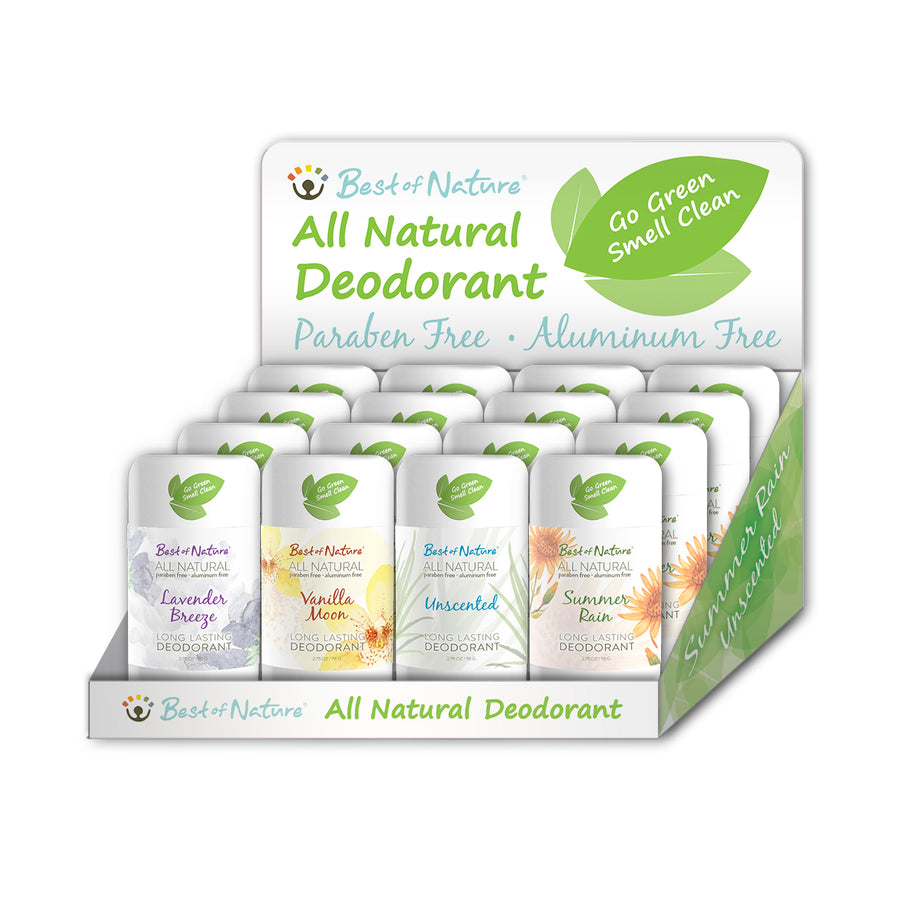 All Natural Deodorant Display