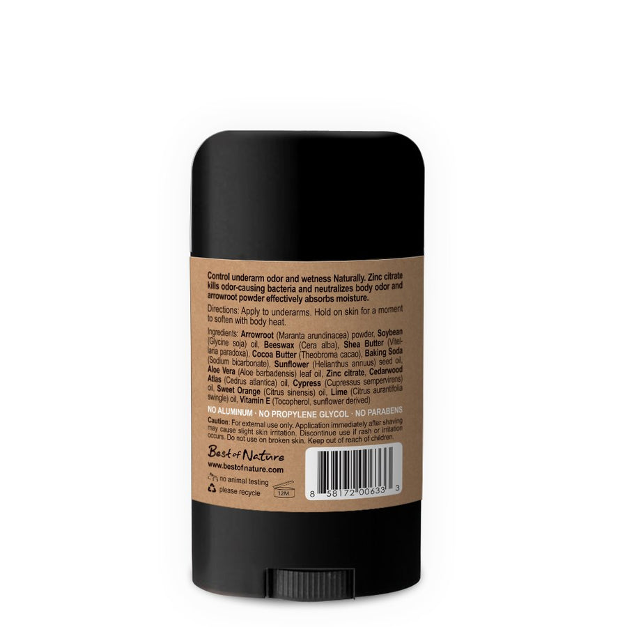 Urban Lumberjack Natural Deodorant - Cedarwood Citrus - Spa & Bodywork Market