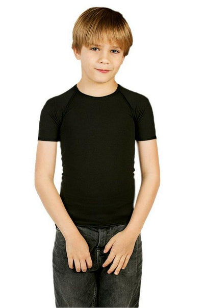 JettProof Sensory Short Sleeve Shirt | Boys-0-Black-JettProof.com.au