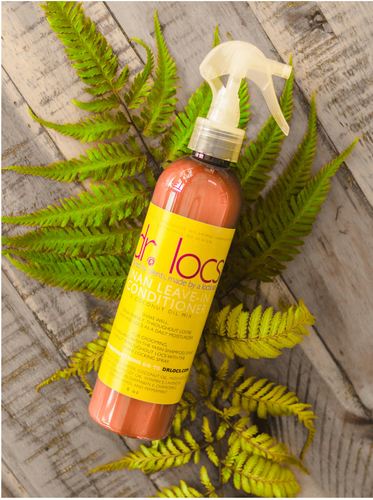 Dr. Locs' Jinan Leave-In Conditioner rehydrates your scalp and locs daily.