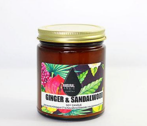 Ginger & Sandalwood Soy Candle