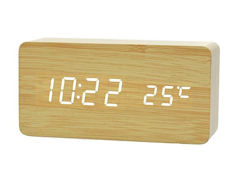 Wooden Digital Alarm Clock | WoodPass