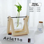 Rustic Glass Vase with Wooden Base | WoodPass