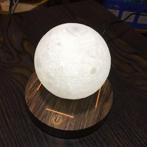 Levitating Moon Lamp with Wooden Base | WoodPass