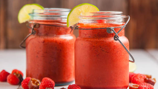 Raspberry Lime Pre-Workout Smoothie