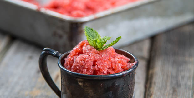 Strawberry Lemon-Lime Granita