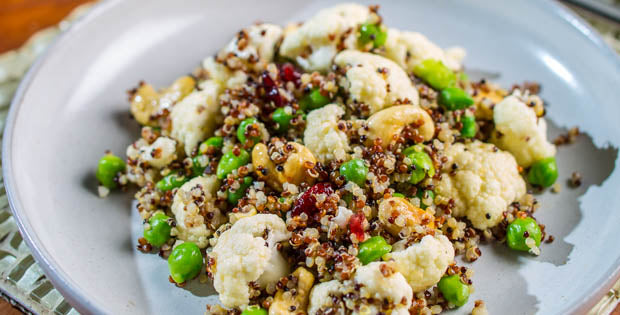 YEW Green Garbanzo Bean, Cauliflower, and Quinoa Salad