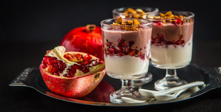 Pomegranate Smoothie Parfait