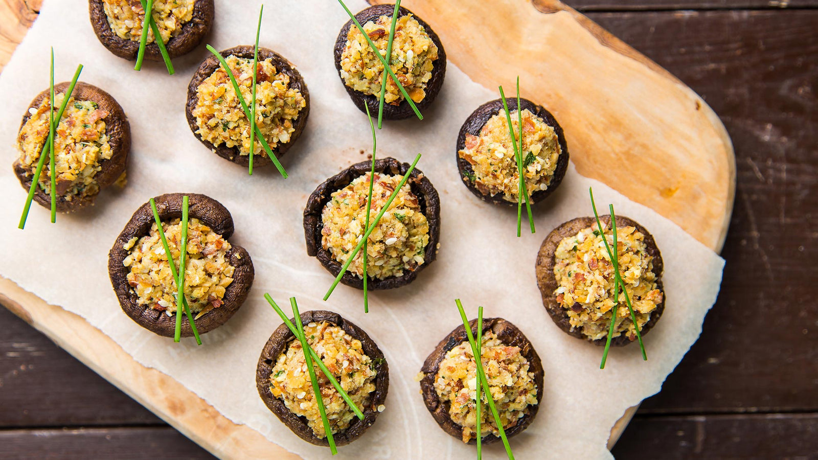 Asian Stuffed Mushrooms