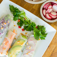 Vietnamese Style Vermicelli Spring Rolls