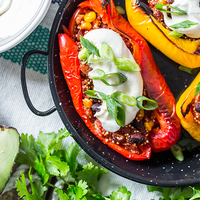 Slow Cooker Southwest Stuffed Peppers