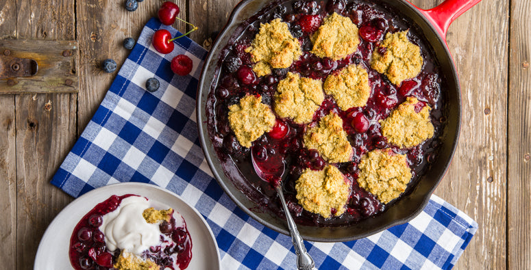 Red White & Blue Berry Cobbler