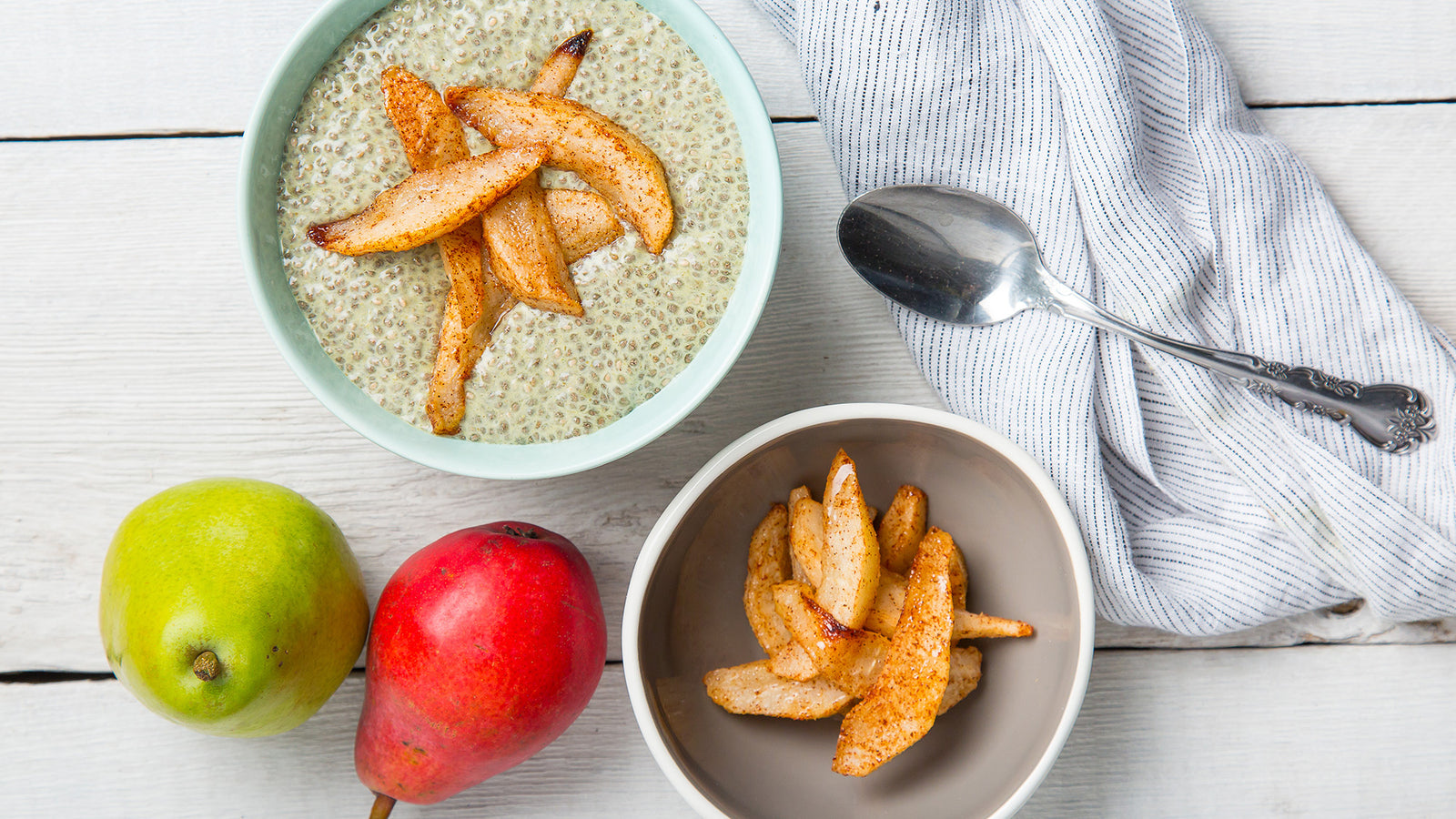 Vanilla Chia Pudding with Pears