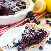 Vegan, Gluten-Free Blueberry Pie