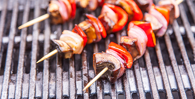 Barbecued Veggie Skewers