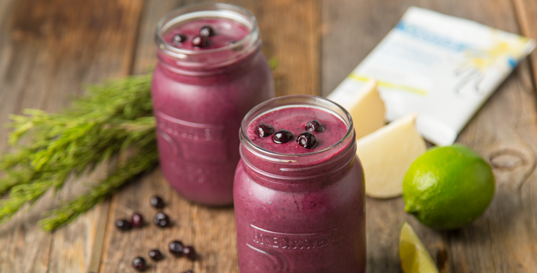 Lime Blueberry Smoothie