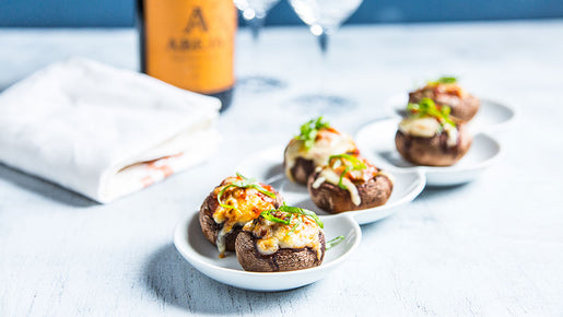 Mini Vegan Pizza Stuffed Mushrooms