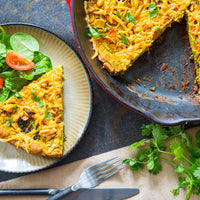 Eggless Crustless Vegetable Quiche