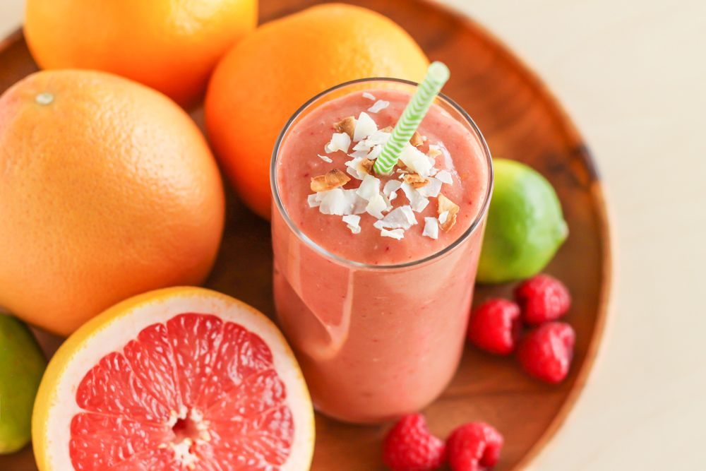Raspberry Grapefruit Smoothie