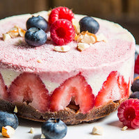 No Bake Dessert: Raw Lemon Strawberry Cheesecake