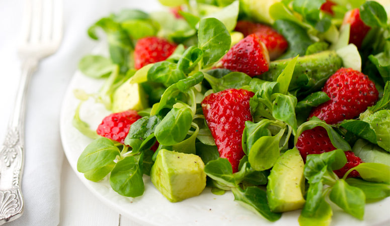 Strawberry Avocado Mâche Salad