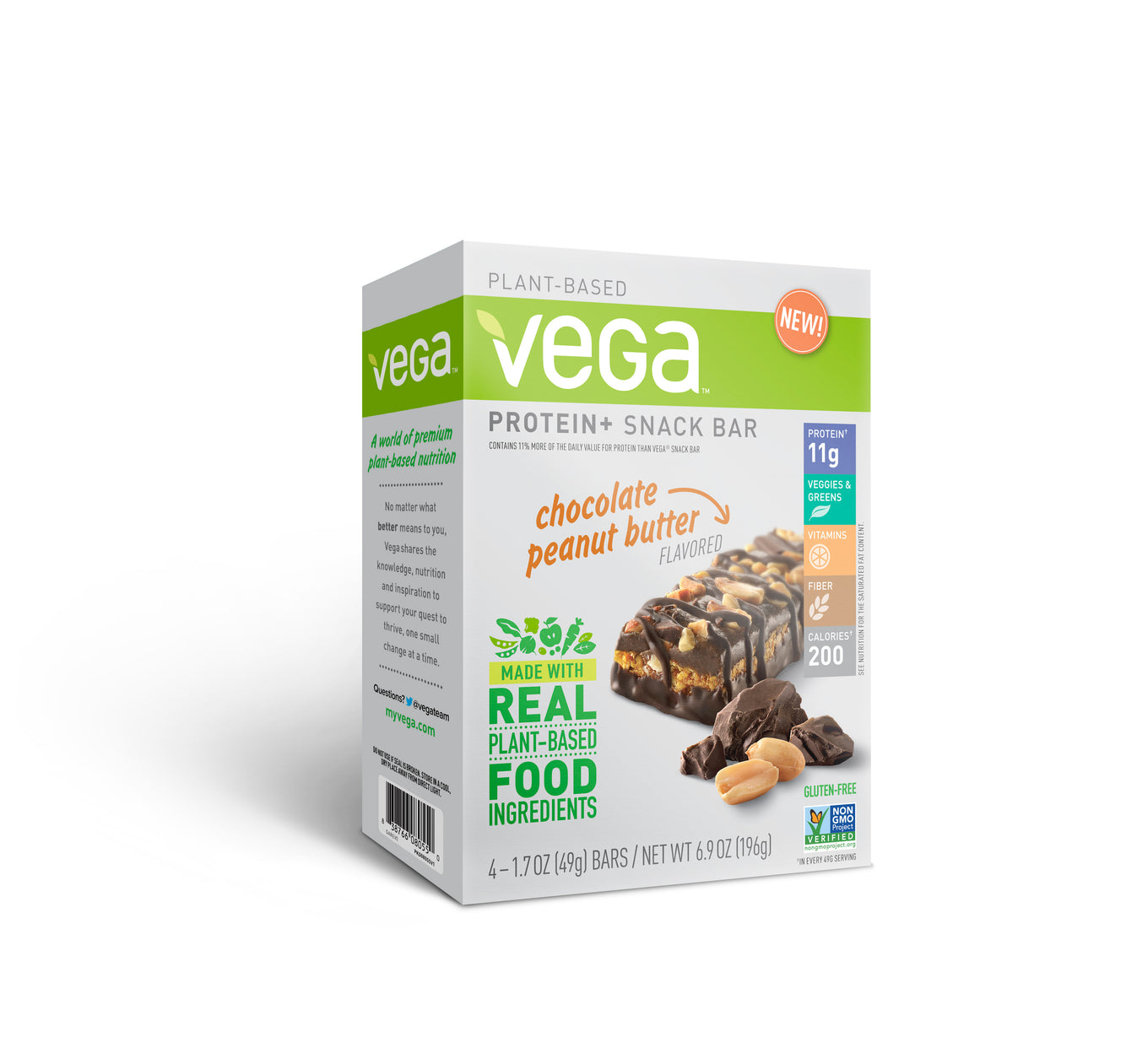 New Premium Plant-based Nutrition Bar for Nutrition On-the-go: Vega® Protein+ Snack Bar